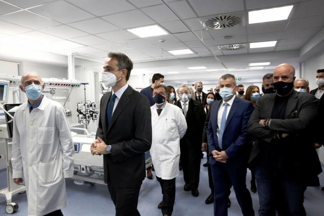Επίσκεψη του πρωθυπουργού σε ΜΕΘ, δωρεά του Ιδρύματος Σταύρος Νιάρχος