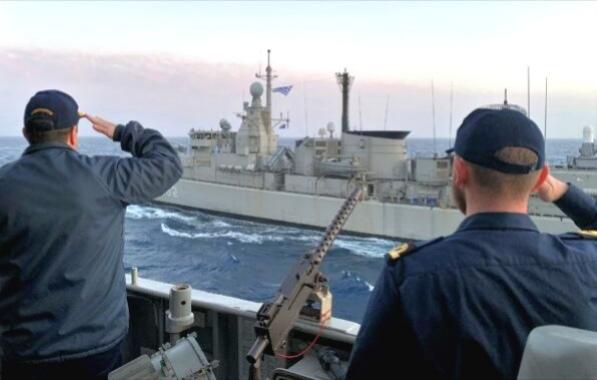 Συνεκπαίδευση φρεγάτας του Πολεμικού Ναυτικού με μονάδες του ΝΑΤΟ