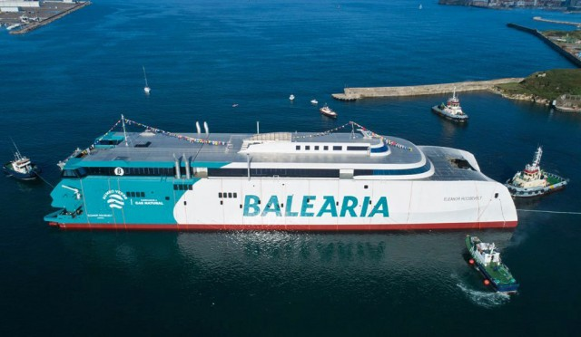 Το πρώτο παγκοσμίως ταχύπλοο επιβατηγό πλοίο με κινητήρες διπλού καυσίμου