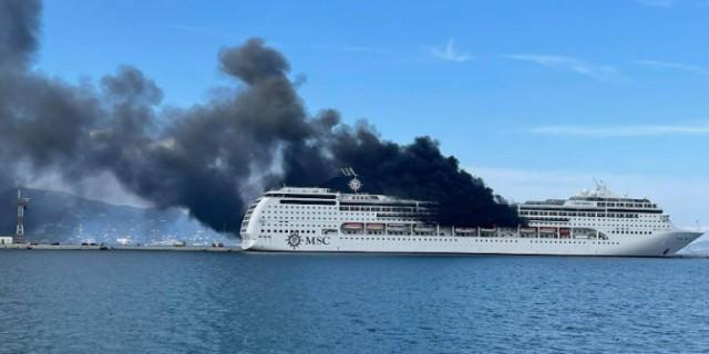 Πυρκαγιά σε κρουαζιερόπλοιο στην Κέρκυρα
