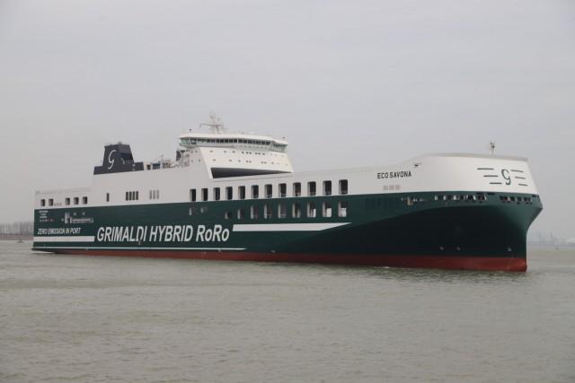 Grimaldi Group: Παραλαβή νεότευκτου υβριδικού Ro-Ro πλοίου