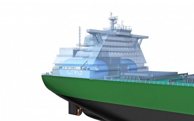 Καινοτόμος σχεδιασμός φορτηγού πλοίου κατανάλωσης LNG λαμβάνει Έγκριση επί της Αρχής από τον DNV