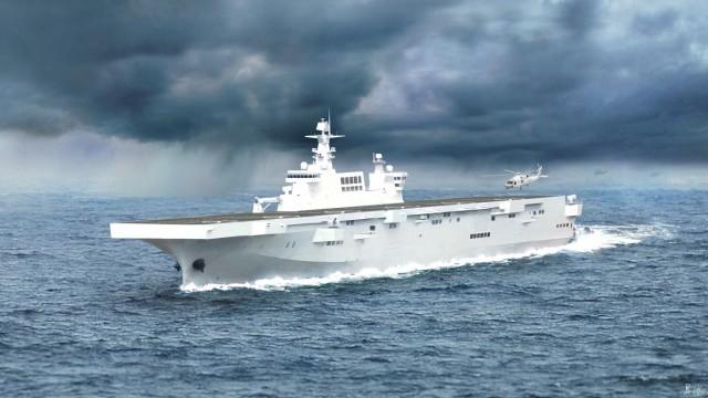 Δοκιμές για το μεγαλύτερο «αμφίβιο» πλοίο του Πολεμικού Ναυτικού της Κίνας