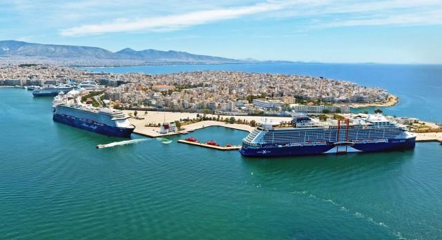 Το λιμάνι του Πειραιά υποδέχτηκε το πρώτο κρουαζιερόπλοιο της χρονιάς
