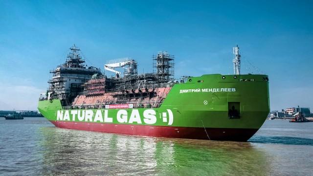Στο νερό το πρώτο LNG bunkering πλοίο της Ρωσίας