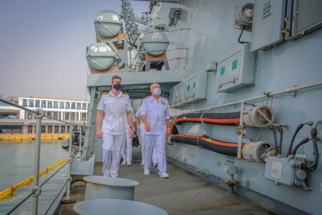 Συνάντηση Αρχηγού Ναυτικού του Ηνωμένου Βασιλείου με τον Αρχηγό ΓΕΝ