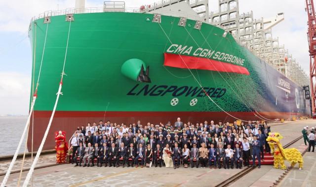 Στα εννέα τα ultra large containerships κατανάλωσης LNG της CMA CGM