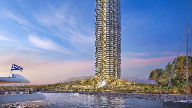 Marine Tower: Παρουσιάστηκε ο πρώτος πράσινος ουρανοξύστης της Ελλάδας