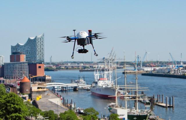 Drones: Το πρώτο σύστημα εναέριας διαχείρισης της κίνησης στο λιμάνι του Αμβούργου