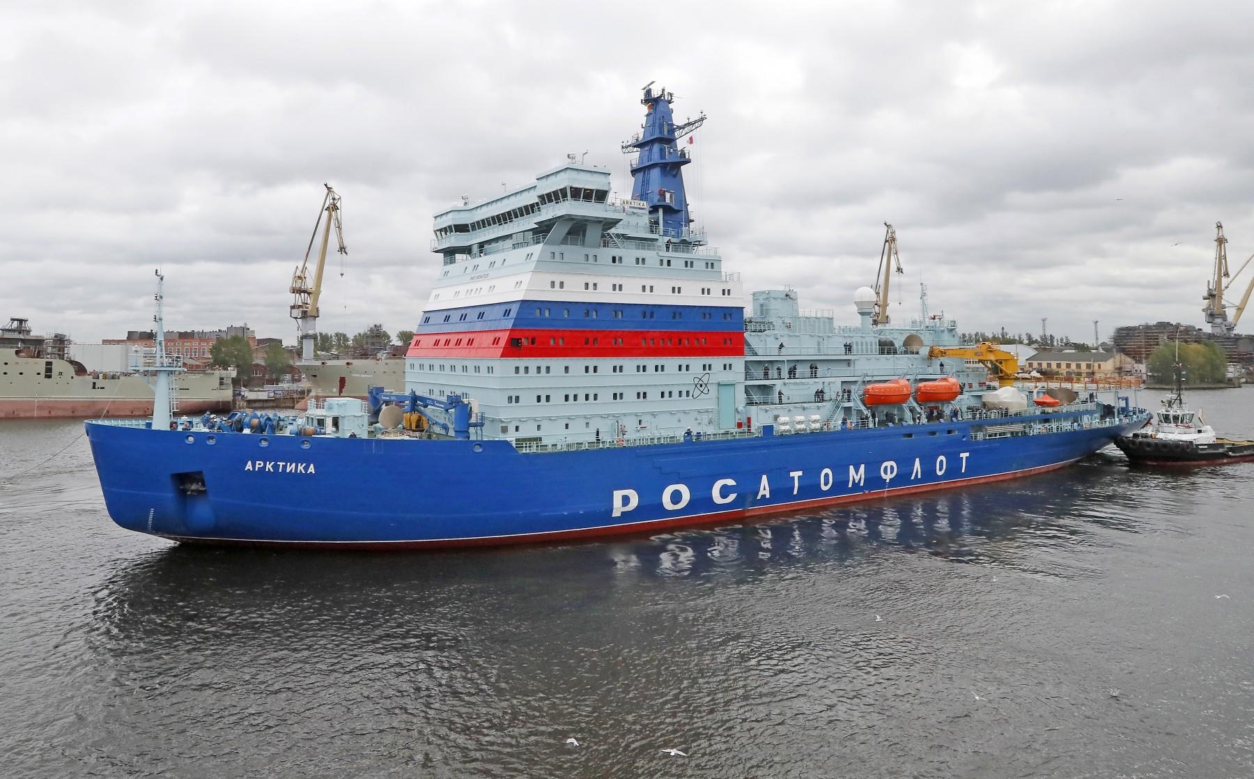 Το παγοθραυστικό «Arktika», το μεγαλύτερο και ισχυρότερο πυρηνοκίνητο πλοίο στον κόσμο