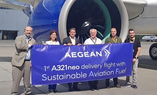 "Aegean Airlines: Παραλαβή και δοκιμαστική πτήση νέου ""πράσινου"" αεροσκάφους"