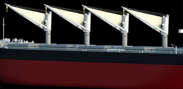Ιστία σε γερανούς φορτοεκφόρτωσης πλοίων