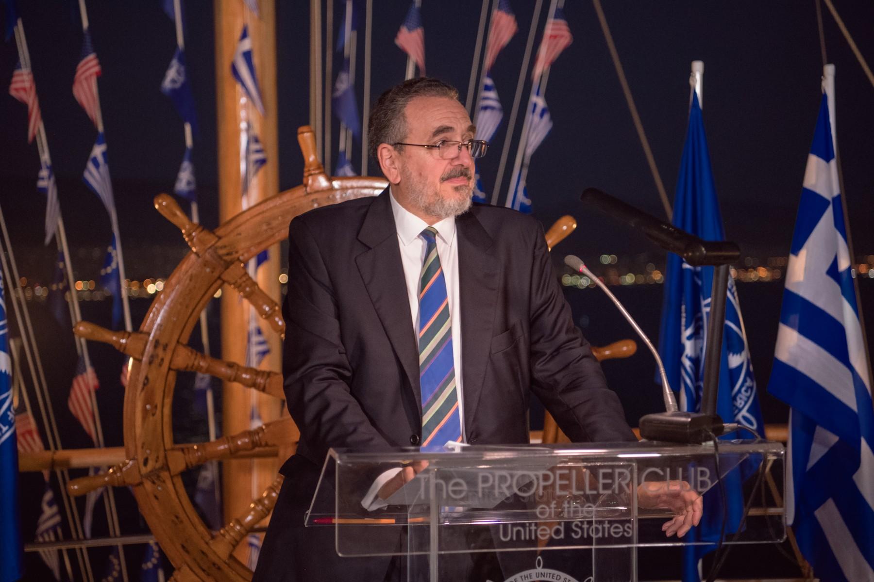 Ο πρόεδρος του Ναυτικού Επιμελητηρίου Ελλάδας Δρ. Γιώργος Πατέρας