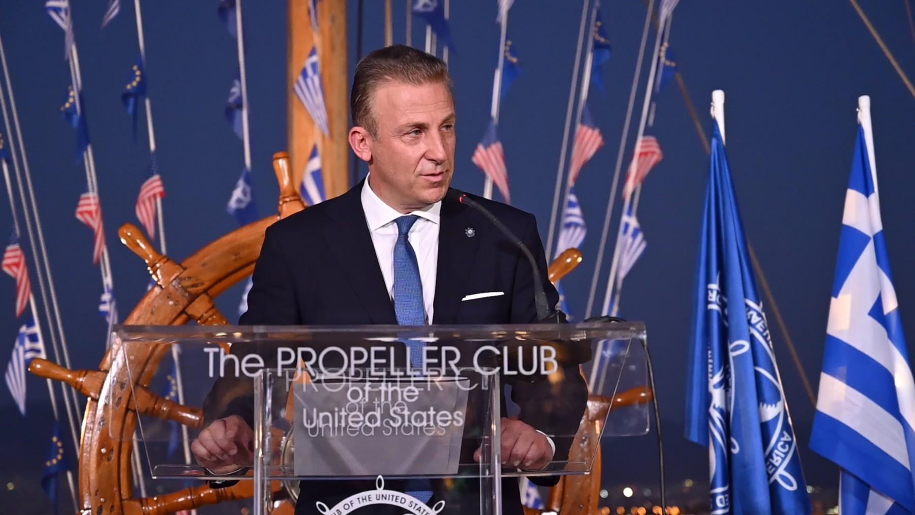 Ο Πρόεδρος του Propeller Club Πειραιά κ. Κωστής Φραγκούλης