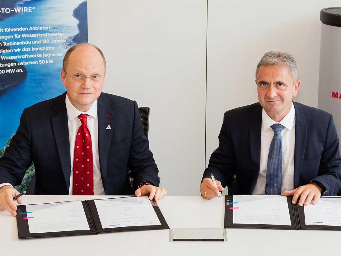 Ο Frank Mette, CEO της ANDRITZ Hydro και ο Δρ. Uwe Lauber, Chief Executive Officer & Chief Technology Officer της MAN Energy Solutions