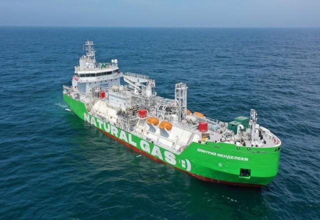 Παραλαβή του πρώτου πλοίου ανεφοδιασμού καυσίμου LNG ρωσικών συμφερόντων