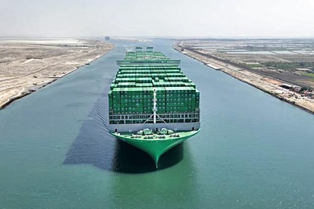 Επιτυχής διέλευση του μεγαλύτερου παγκοσμίως containership από τη Διώρυγα του Σουέζ