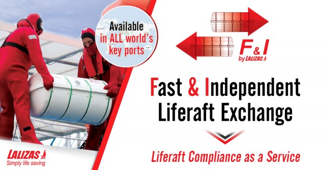 Fast and Independent Liferaft Exchange: Η νέα πρωτοπόρα υπηρεσία της LALIZAS